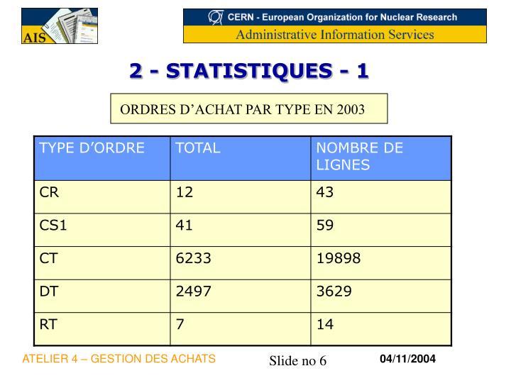 2 - STATISTIQUES - 1