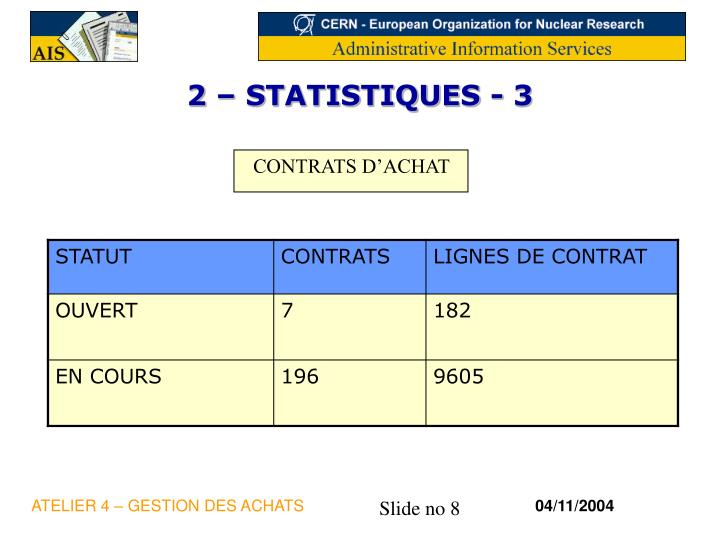 2 – STATISTIQUES - 3