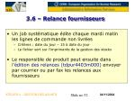3 6 relance fournisseurs