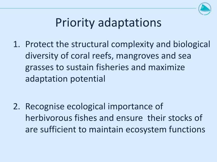 Priority adaptations