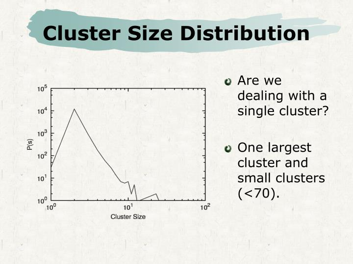 Cluster Size Distribution