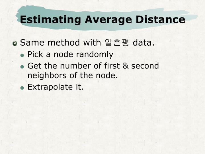 Estimating Average Distance