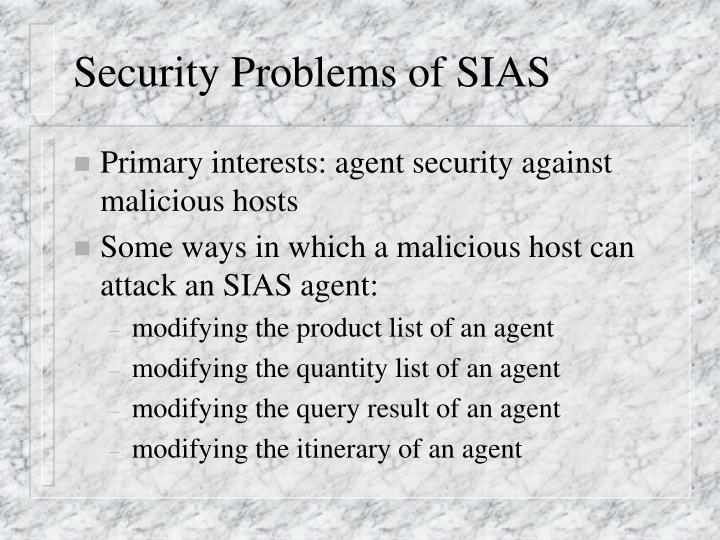 Security Problems of SIAS
