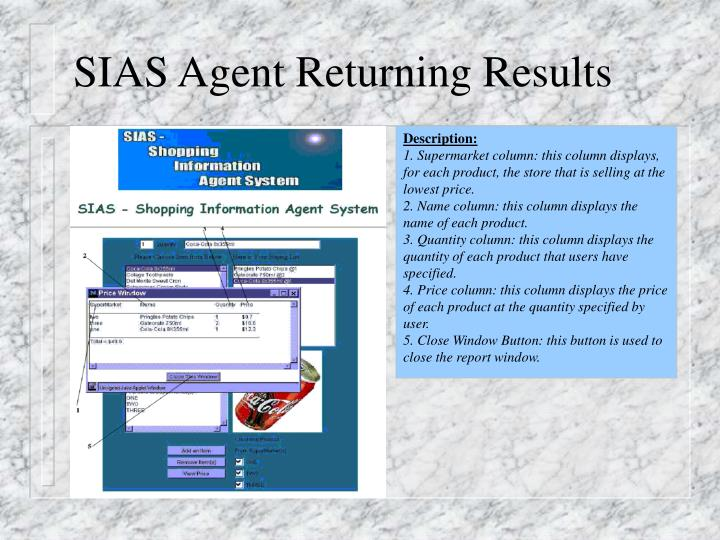 SIAS Agent Returning Results