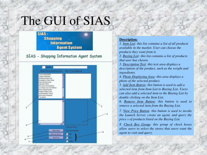 The GUI of SIAS