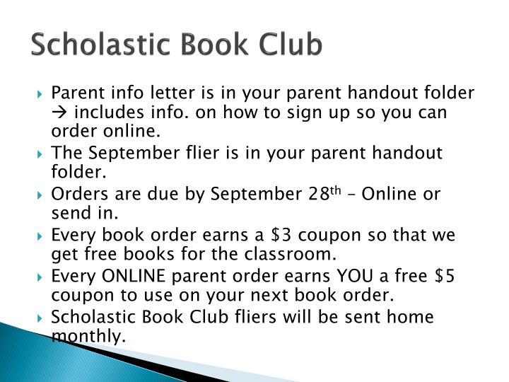 Scholastic Book Club