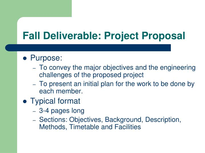 Fall Deliverable: Project Proposal