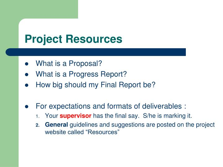 Project Resources