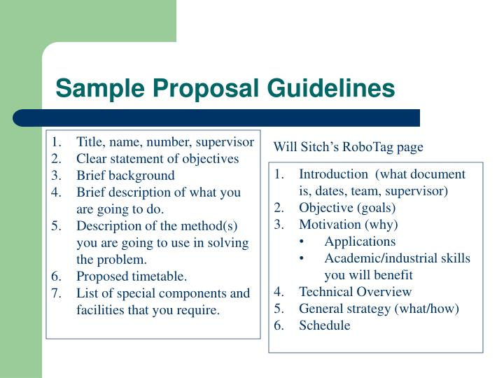 Sample Proposal Guidelines