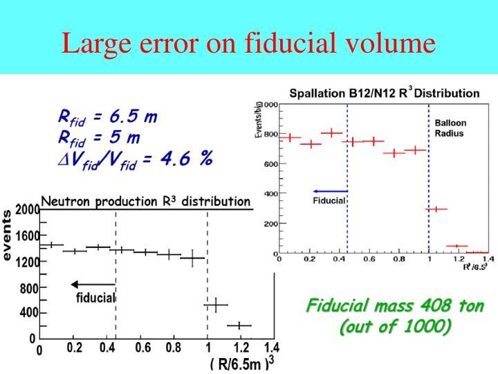 Large error on fiducial volume
