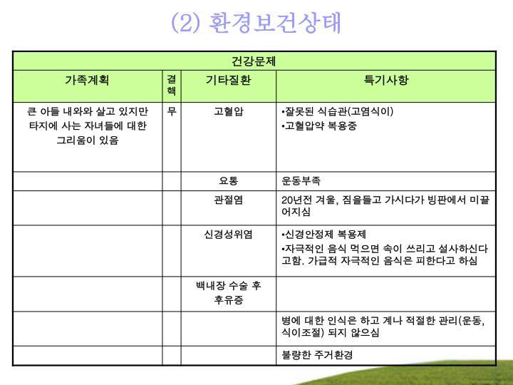 (2) 환경보건상태