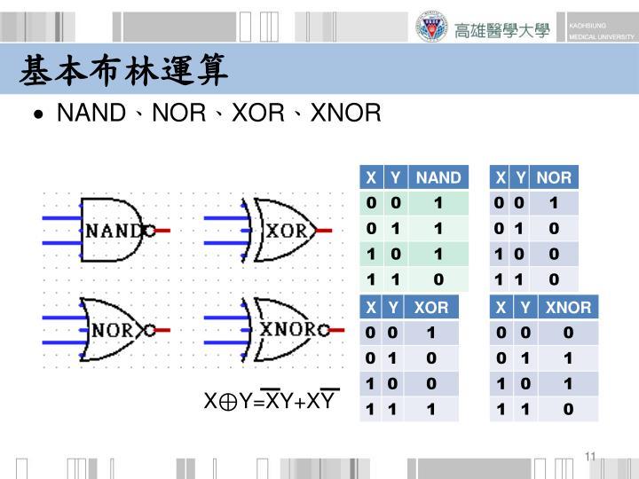 X⊕Y=XY+XY