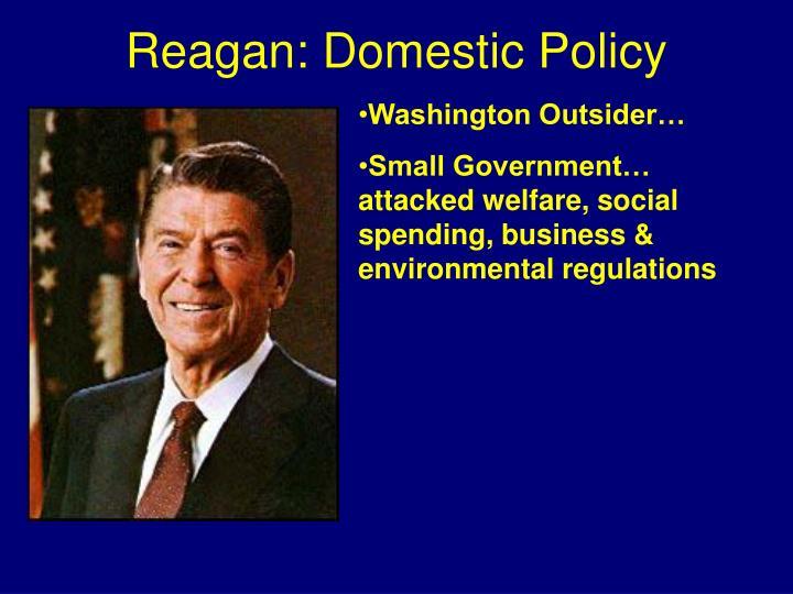 Reagan: Domestic Policy