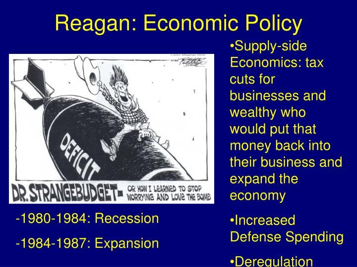 Reagan: Economic Policy