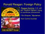 ronald reagan foreign policy