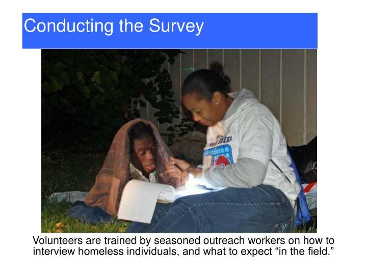 Conducting the Survey