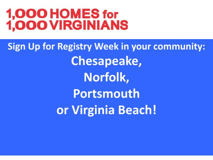 Sign Up for Registry Week in your community: