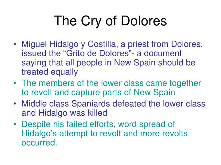 The Cry of Dolores