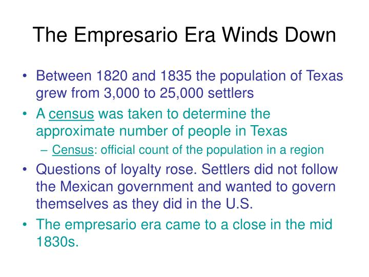 The Empresario Era Winds Down