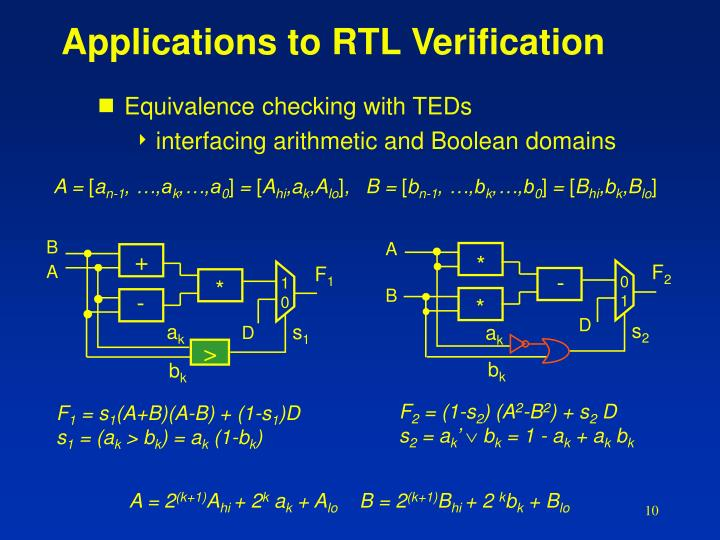 Applications to RTL Verification