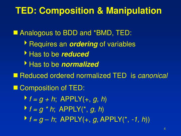 TED: Composition & Manipulation