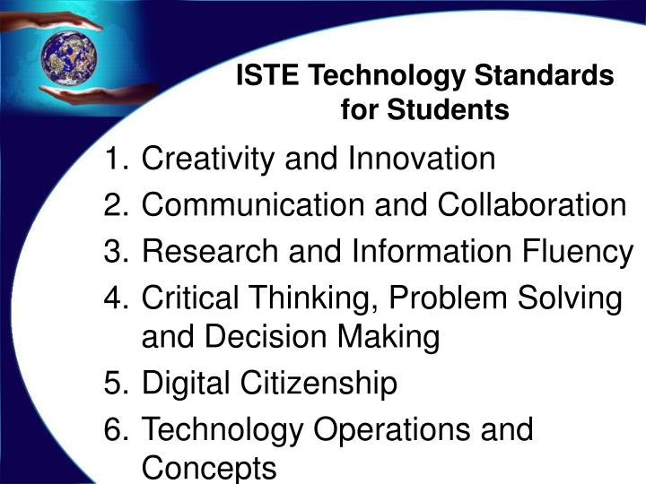 ISTE Technology Standards