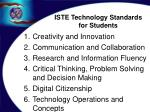 iste technology standards for students