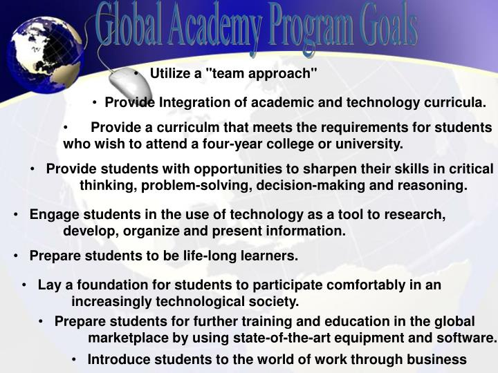 Global Academy Program Goals