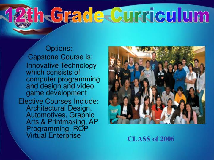 12th Grade Curriculum