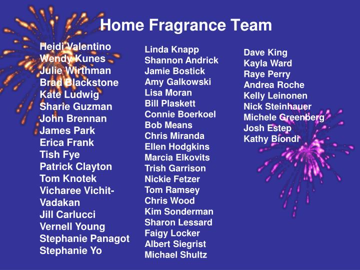 Home Fragrance Team