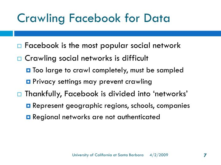 Crawling Facebook for Data
