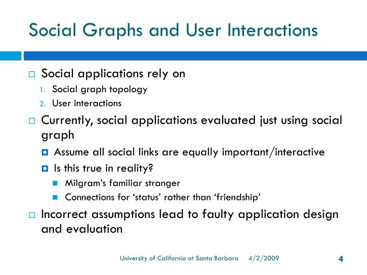 Social Graphs and User Interactions