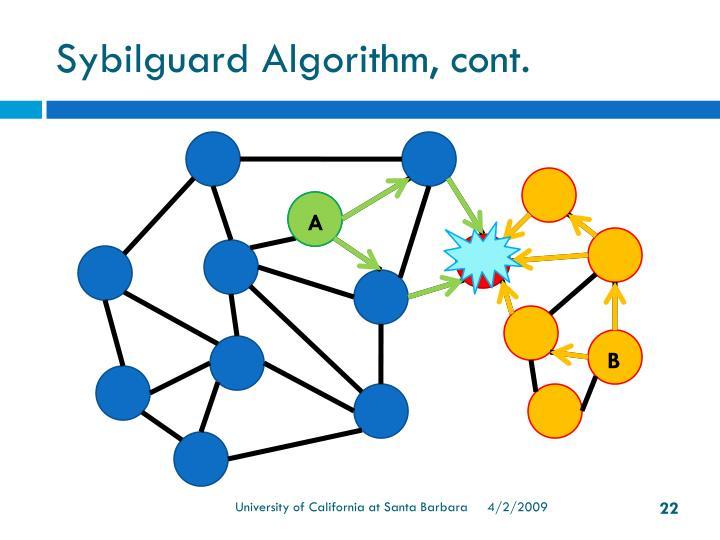 Sybilguard Algorithm, cont.
