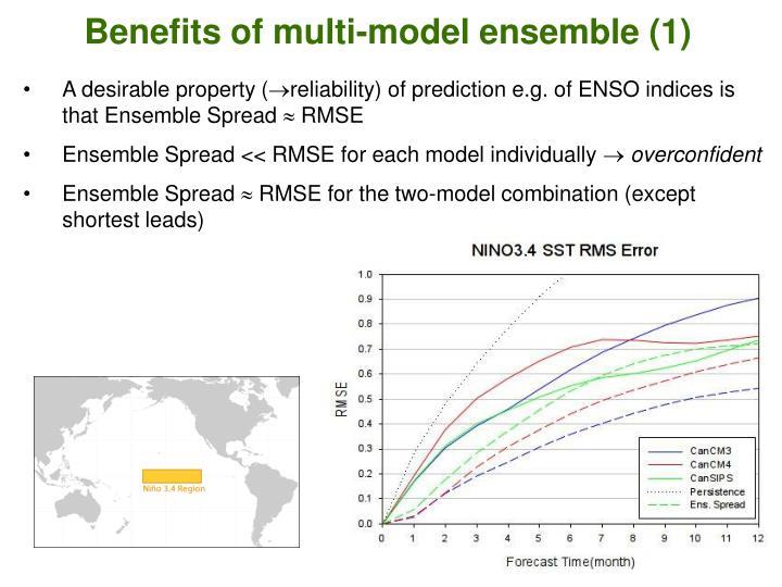 Benefits of multi-model ensemble (1)