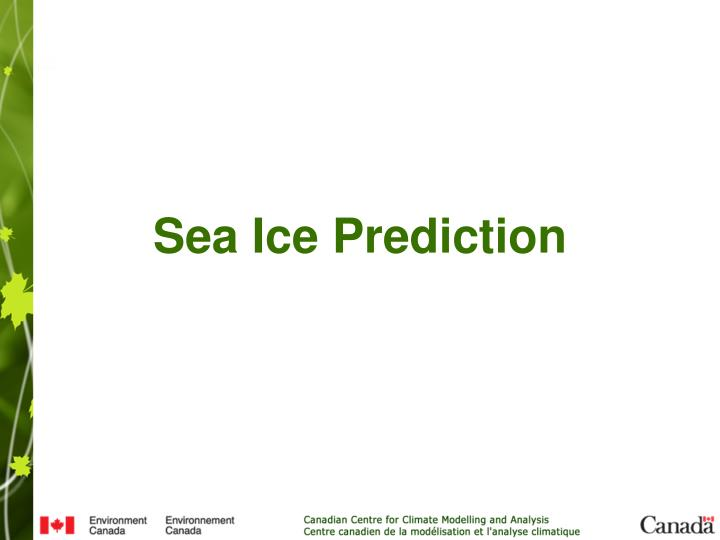 Sea Ice Prediction