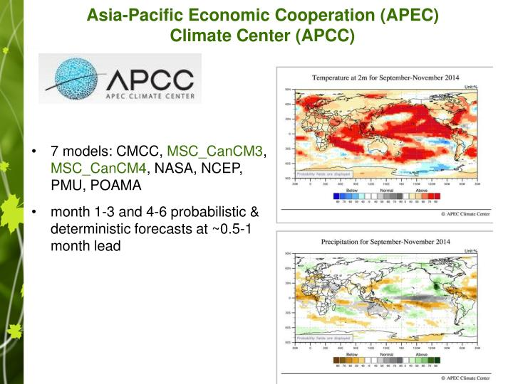Asia-Pacific Economic Cooperation (APEC) Climate Center (APCC)