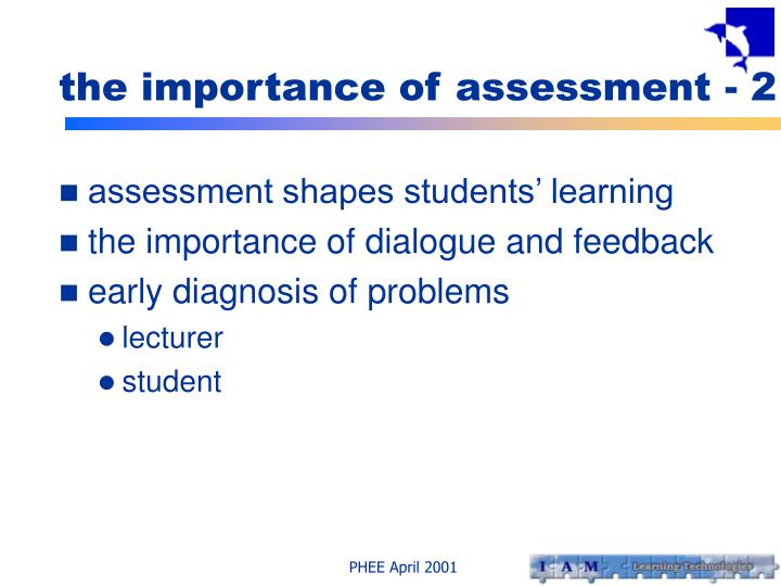 the importance of assessment - 2