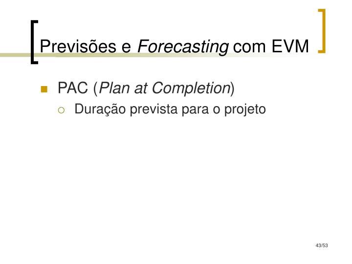 Previsões e