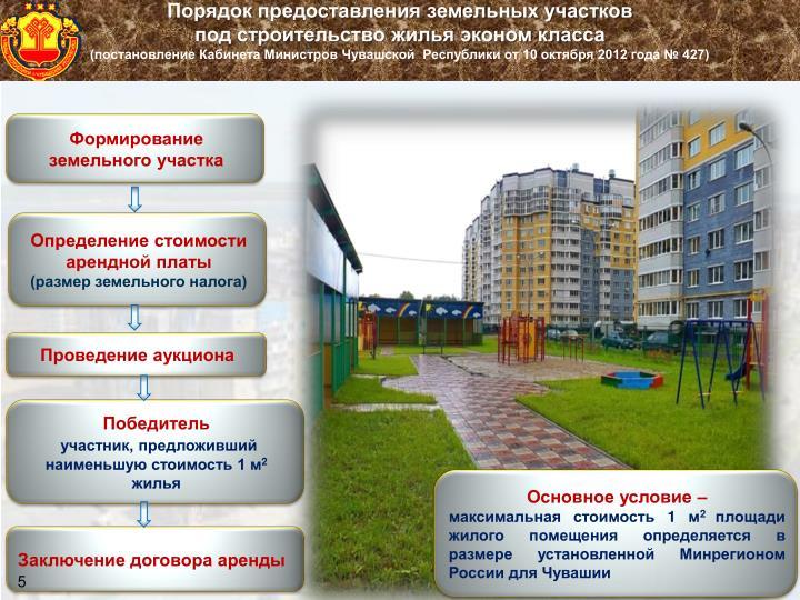 Порядок предоставления земельных участков
