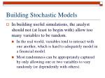 building stochastic models
