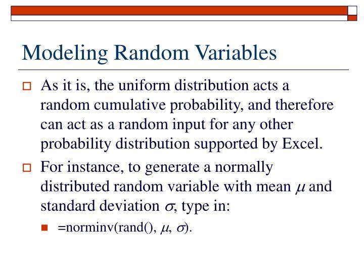 Modeling Random Variables