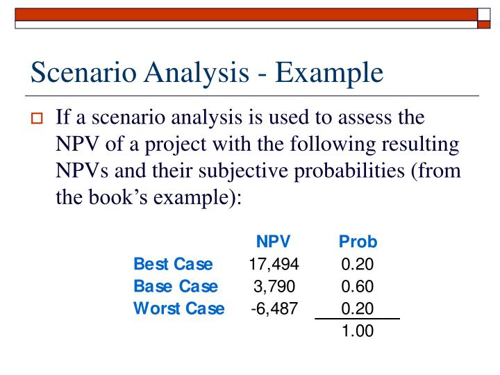 Scenario Analysis - Example