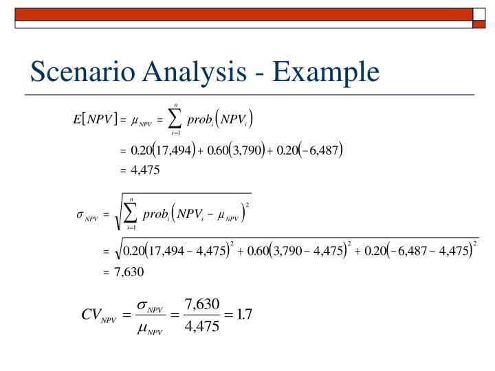 Scenario Analysis - Example