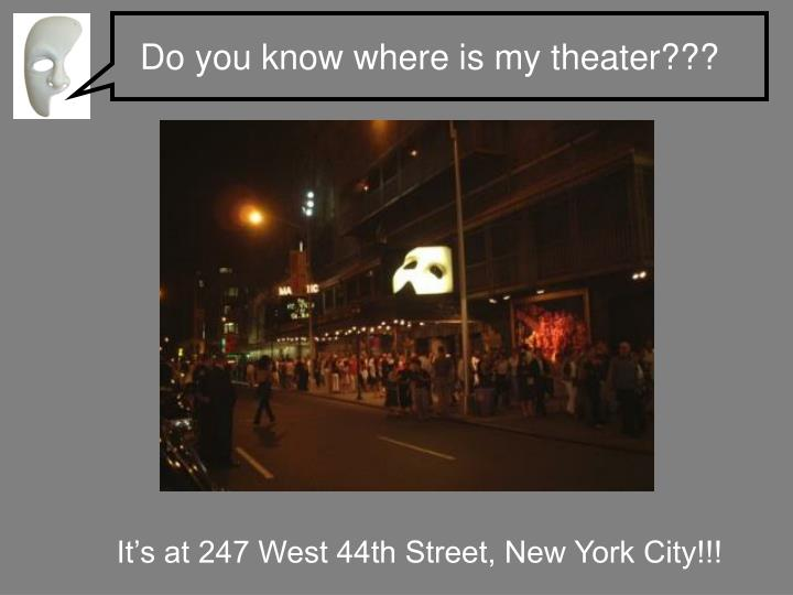 Do you know where is my theater???