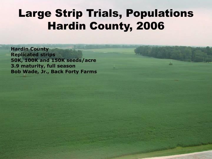 Large Strip Trials, Populations