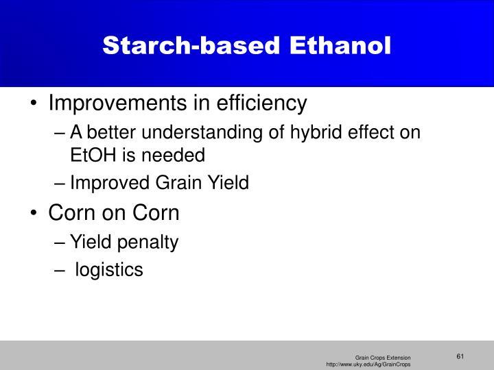 Starch-based Ethanol
