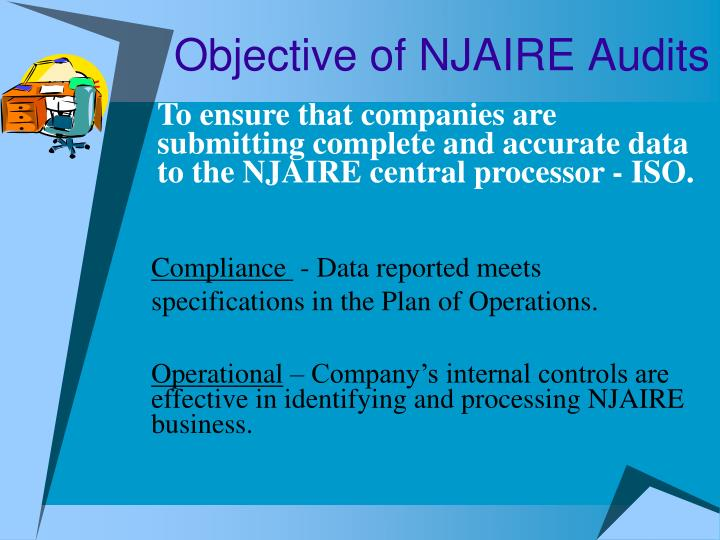 Objective of njaire audits