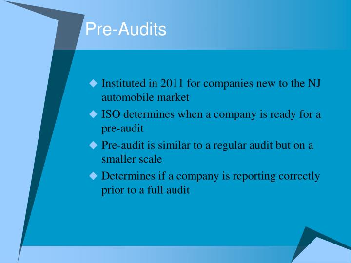 Pre-Audits