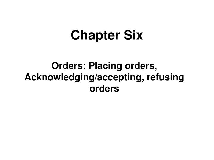 chapter six