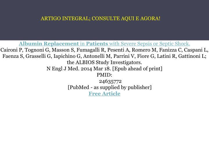ARTIGO INTEGRAL; CONSULTE AQUI E AGORA!